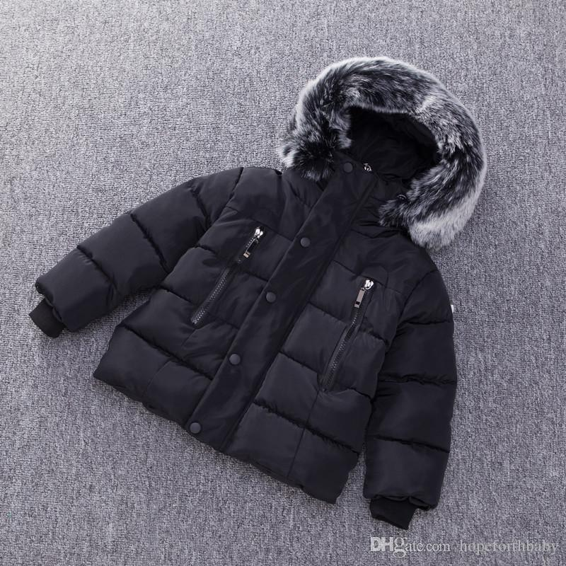 97bce84fde0 Baby Boys Jacket Autumn Winter Kids Warm Thick Hooded Coat Children  Outerwear Toddler Girl Boy Clothing