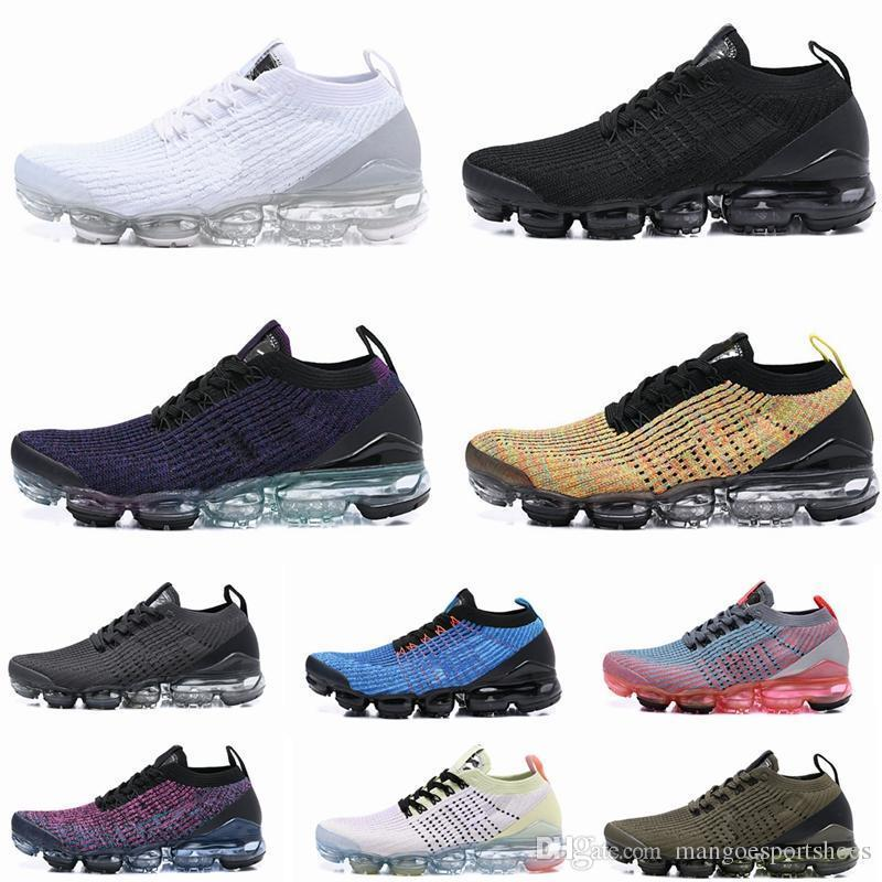 2019 TN Running Shoes Mens New Fly 2.0 3.0 Knit Triple Black White Designer Shoes Be True Mesh Sneakers 36-45