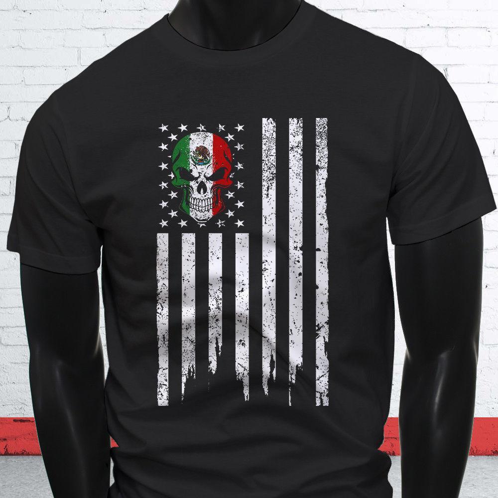 ca991a33 MEXICAN AMERICAN SKULL MEXICO FLAG PRIDE CINCO Mens Black T Shirt Jacket  Croatia Leather Tshirt Denim Clothes Camiseta T Shirt Online Shirts T Shirt  Design ...