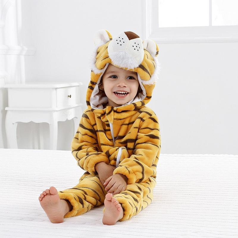 7638e63db 2019 2018 New Winter Baby Girl Boy Rompers Flannel Cartoon Animal Jumpsuit  Baby Long Sleeve Hooded Rompers Bebe Infant Baby Clothing From Textgoods09,  ...