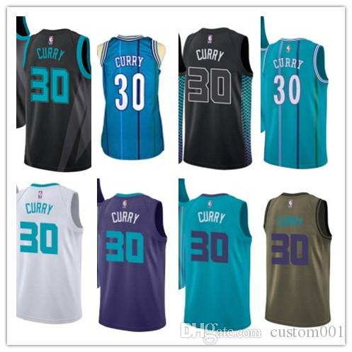 innovative design 79138 153ed custom 2019 Charlotte Hornet Jerseys #30 Dell Curry Jerseys  men#WOMEN#YOUTH#Men's Baseball Jersey Majestic basketball jersey