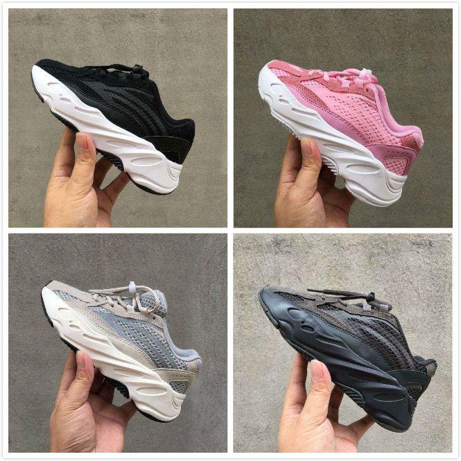 01175ee4c 2019 Kids Mauve 700 Wave Runner Children Boy Girls Designer Sneakers 700 V2  Static Infant Toddler Kanye West Sport Shoes Chaussures Cheap Sneakers For  ...