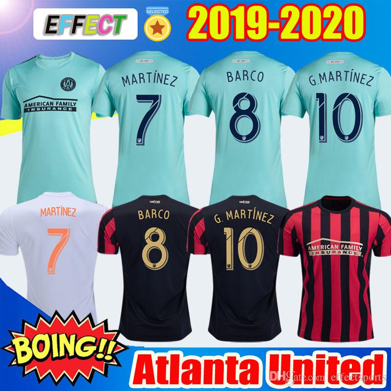 the best attitude 17ce6 a7d78 2019 2020 Atlanta United Parley soccer jerseys 19/20 BARCO #8 MARTINEZ  Thailand atlanta United MLS parley blue spirit football jersey shirt