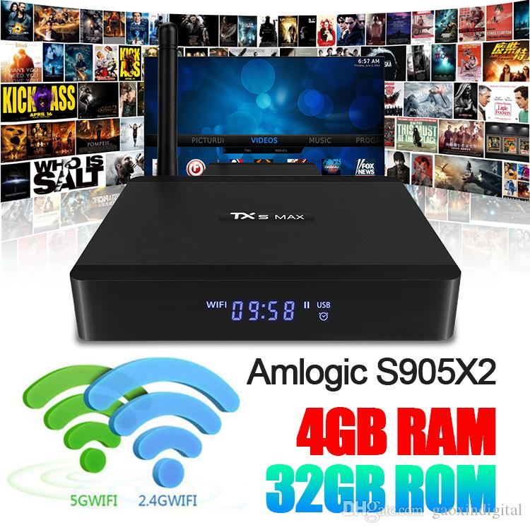 TX5 Max TV Box Android 8 1 Amlogic S905X2 Smart Tv Box Quadcore Dual Band  5G Wifi Support 1000M Lan Bluetooth 4 2 HDMI2 1 USB3 0 Set Top Box