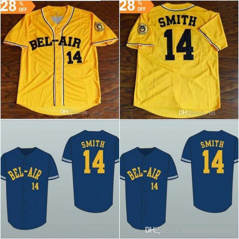 81aeb7b7c9ac 2019 Fresh Prince 14 Will Smith Bel Air Academy Baseball Jersey ...