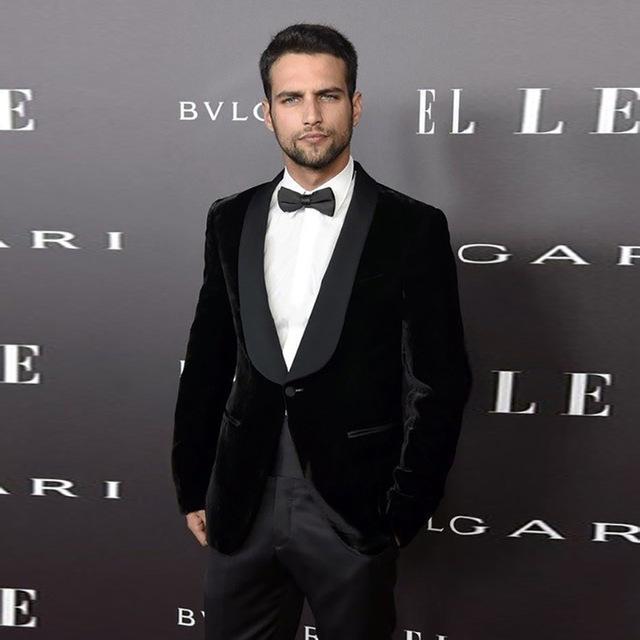 2019 Black Velvet Suit Men Blazer Formal Night Jacket Men Suit With