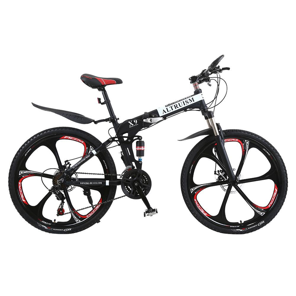 c4a1f9280ab ALTRUISM X9 21 Speed 26 Inch Mountain Bike For Boys Bmx Bicycle Girls Steel Dual  Disc Brakes Bicicleta Folding Bikes Downhill Bikes Bike Racks From ...