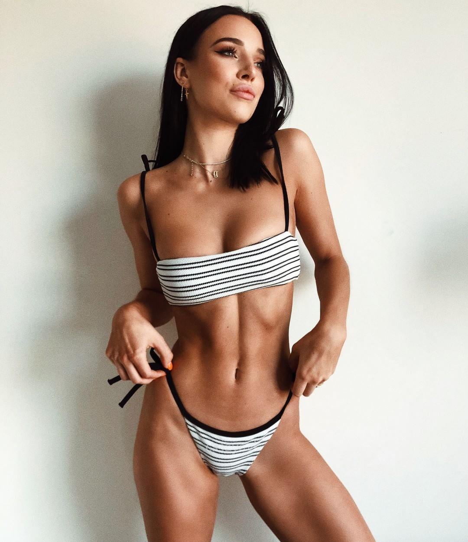 a9050ab195 Hot Women Bikini Striped Print Swimwear Sexy Swimsuit High Quality Bathing  Suit Push Up Biquini Canada 2019 From Weiwenbin678