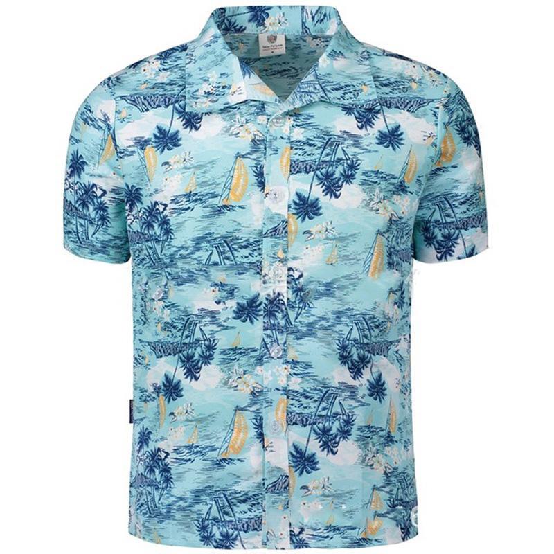 5d705953d 2019 Hawaiian Shirt Print Mens Short Sleeve Shirt Casual Male Vintage Mens  Clothing Boutique Men Retro Little Big 2XL 5XL From Cfendou, $29.02    DHgate.Com