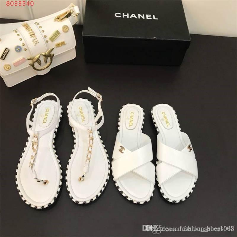 53a30d33 Summer new clip toe, sandals female leather word band, Flat flip flops  bottom comfortable beach women sandals