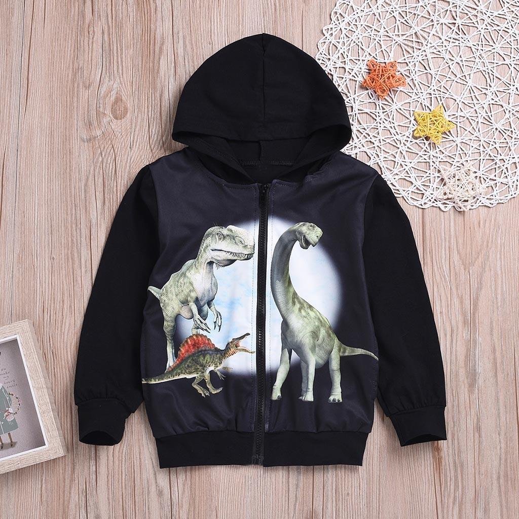 036b545f53de 2019 New Arrival Children Kids Long Sleeve Zipper Cartoon Dinosaur Hooded  Sweatshirt Tops12.01