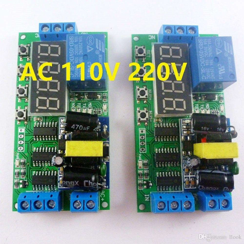 Freeshipping 2pcs AC 85V-260V 110V 220V Cycle Time Timer Switch Delay Relay  ON OFF for LED Smart Home PLC Light security monitor