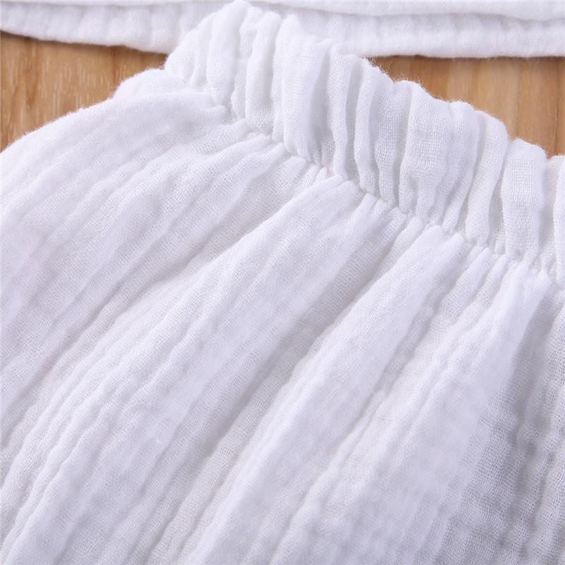 pudcoco Hot Summer Infant bambini Plain Clothes set della ragazza del neonato CottonLinen Tops T-shirt + short pantaloni abiti casual elastico