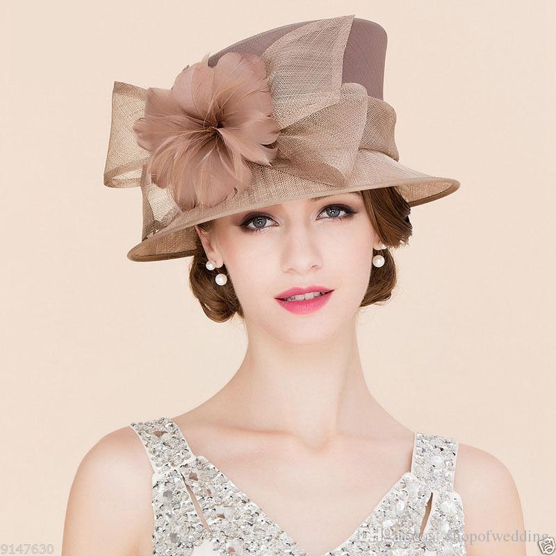 b89b62b69 high quality Women s Hat Church Wedding NobleKentucky Hat Dress linen  feather Sinamay hat Selling the best