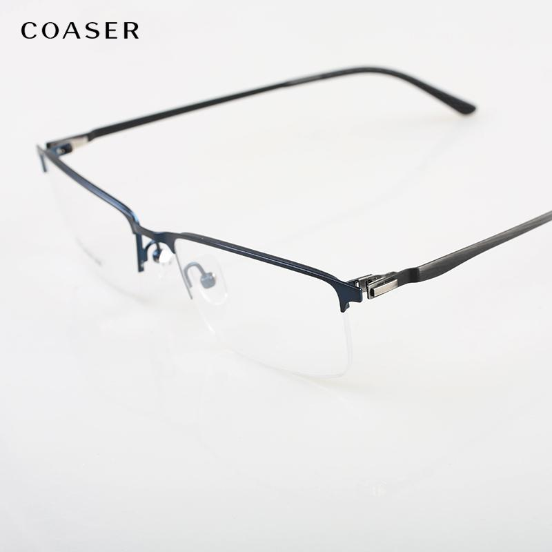 4d72dfdaa6 2019 Oversize Square Titanium Alloy Clear Glasses Frames Wide Spectacle Frame  Men Vintage Suit Myopia Optical Frame Screwless Eyewear From  Marquesechriss