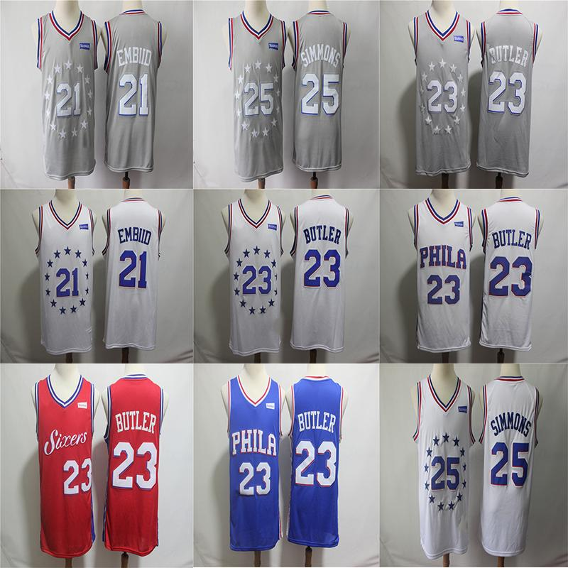 04cc39bc030 2019 Jimmy 23 Butler 76ers City Edition Jersey Men S Philadelphia Joel 21  Embiid Ben 25 Simmons Allen 3 Iverson Basketball Jerseys From Susan sports