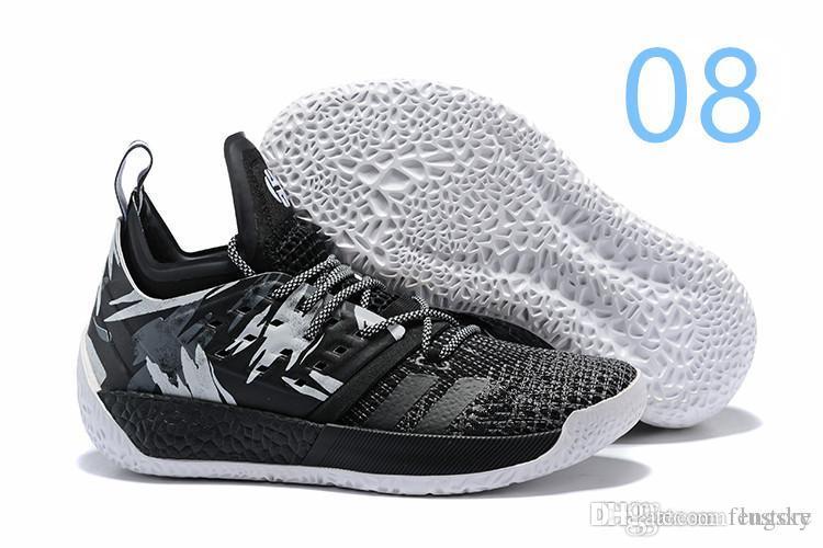 Cheap 2019 HOT Sale James Harden Vol 2 Basketball Shoes Black Blue White  Grey Mens Harden Vol.2 Sneakers SIZE US7-11.5 FENSKY 1cf897ae81