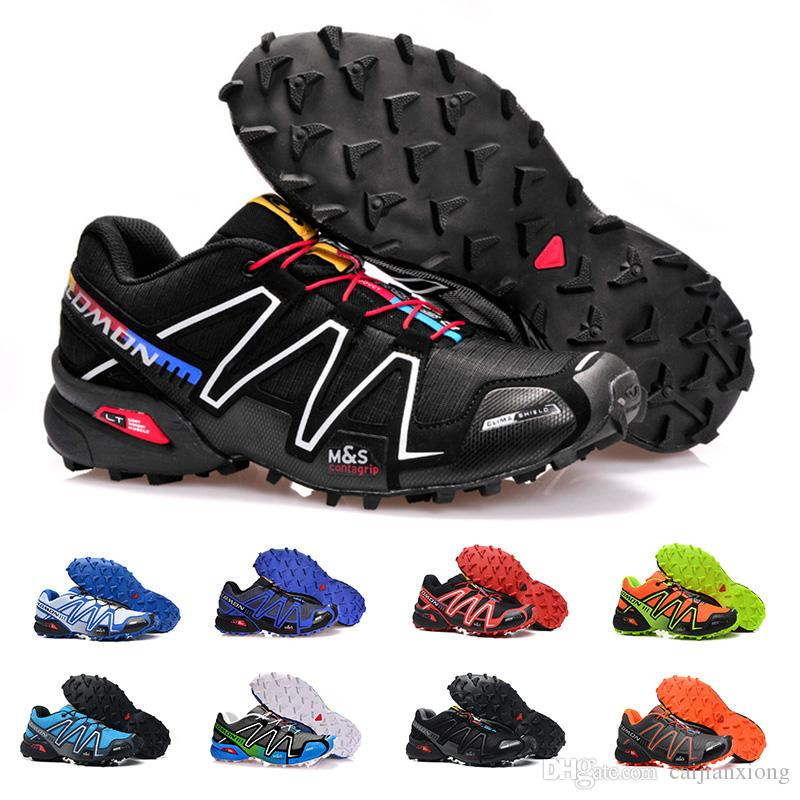 New Fashion Salomon Speed ​​Cross 3 CS III Scarpe da corsa da uomo Economici Nero Rosso Blu Giallo Outdoor Sport da jogging