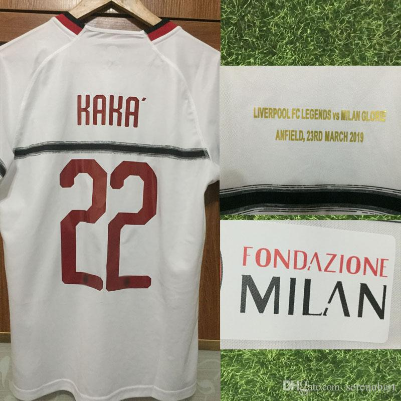 2a162da4bf7 2019 2019 Charity Football Legends Glorie Game KAKA Jersey Pirlo Inzaghi  Gattuso With Match Details Jersey Soccer Shirt From Serenabart