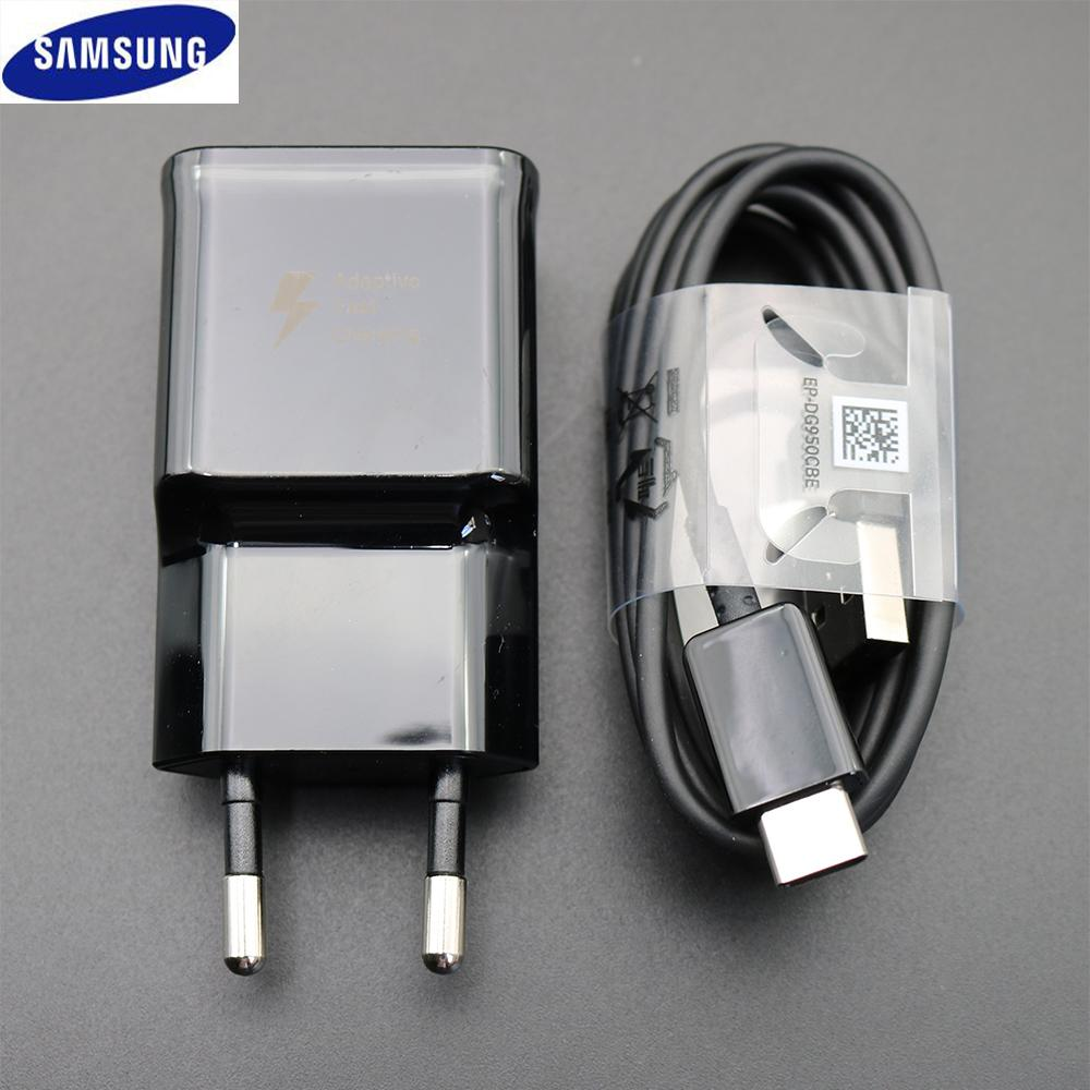 100% Original for Samsung Galaxy S9 S8 S8 plus Fast Charger Type-C Adaptive Quick Charger EU/US/UK Travel Charging 9V 1.67A&5V2A