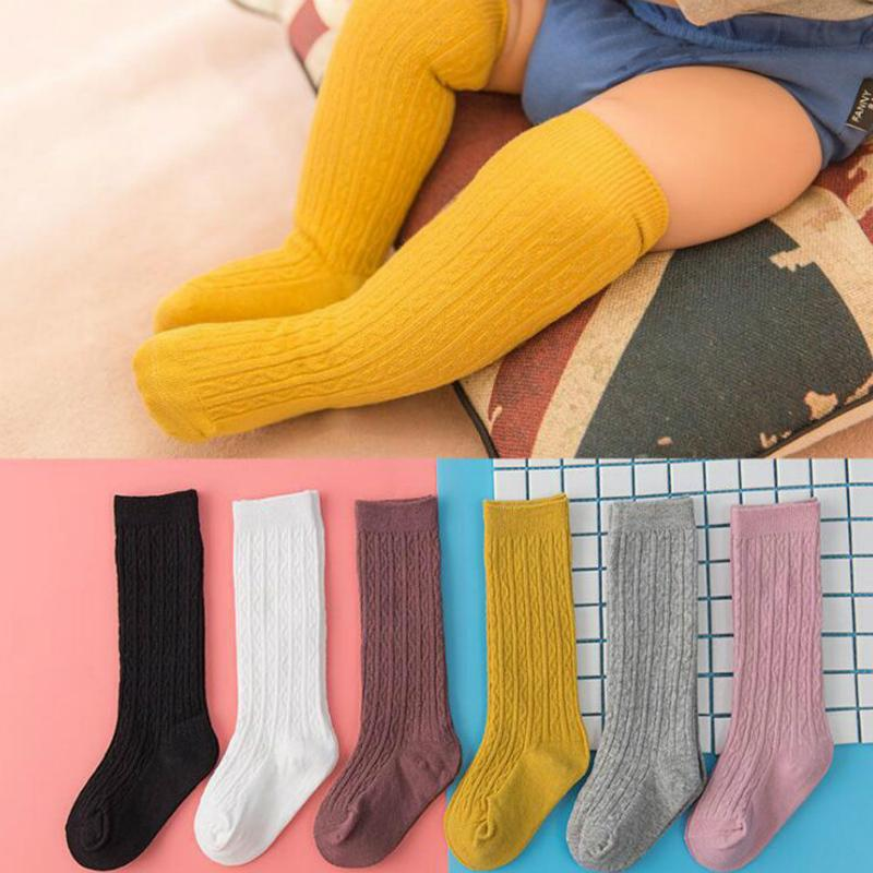Cute Boy Girl Kid Knee High Baby Stockings Cotton Pure Elastic Soft Baby Toddler Leg Warm Leggings