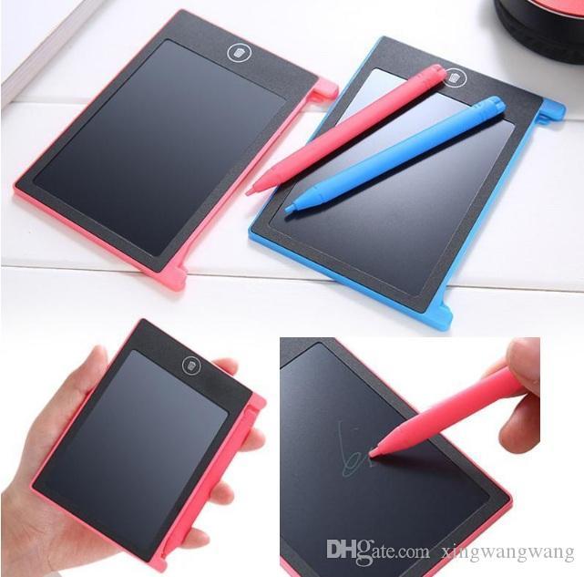 TOP أفضل 4.4 بوصة مصغرة LCD الذكية الرسومات رسم القلم اللوحي الكتابة اللوحي لوحة الكتابة-لمسة واحدة واضحة LCD EWriter قوات أقراص التعليمية