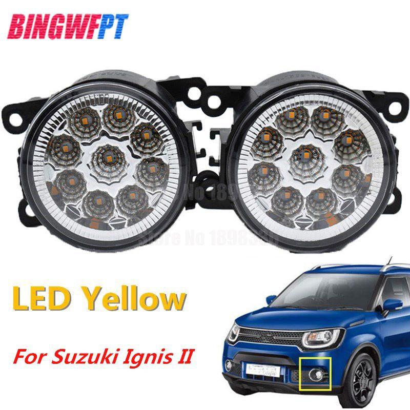 Daytime Running Lights 9LED DRL White Front Fog Tail Round Lamp Round 12v Module