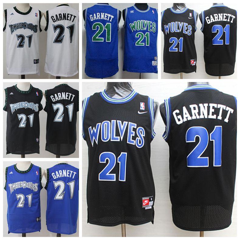 Retro Mens 21 Kevin Garnett Jerseys Timberwolves Basketball Jerseys  Stitched Hardwood Classic Mesh Kevin Garnett Retro Basketball Shirts Groom  And Bride ... 6420a0ae8