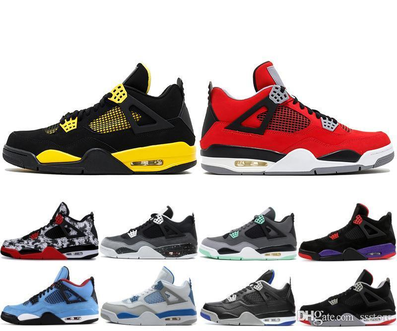 33f625c0cfad3d Raptors Tattoo Basketball Shoes Travis Scott 4 4s Cactus Jack Pure Money  Pizzeria Black Cat Gum Sneakers Trainers Sports 5.5 13 Ssstore Australia  2019 From ...