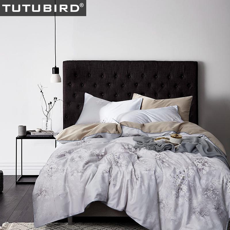 White Floral Bedding Set European Satin Girls Bed Clothes 100