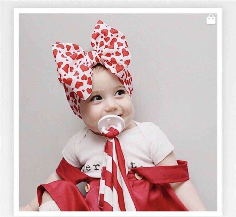 New Cute Baby Girls Toddler Newborn Big Headband Headwear Hair Bow AccessoriesBB