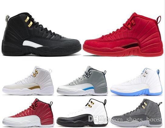 sale retailer e5fb6 bf50d 12s Mens Basketball Shoes Gym red bulls OVO flu game BORDEAUX taxi the  master Dark grey Drake 12 men fashion sports sneakers
