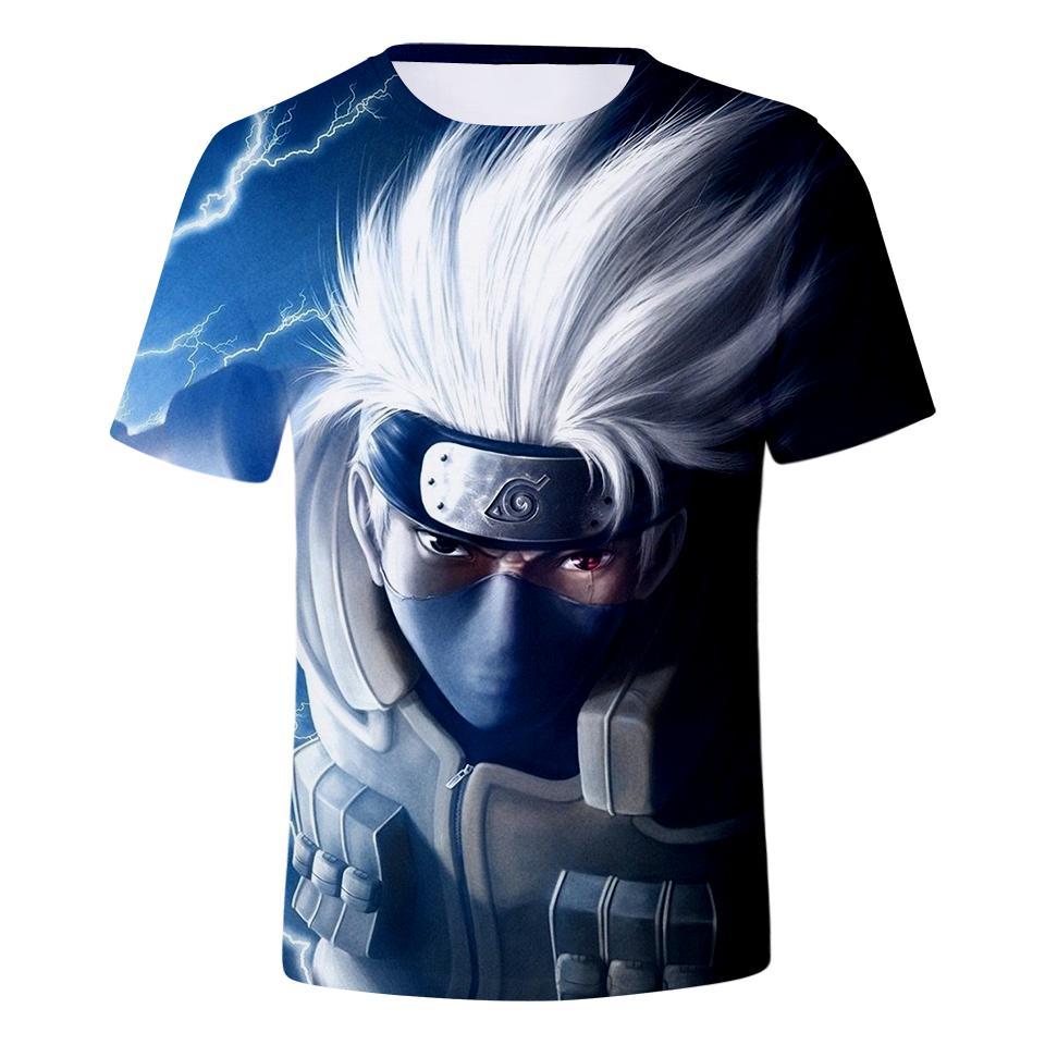 6255f0ec0 La más nueva moda Anime Naruto Sasuke Uchiha camiseta 3D impresión hombres  / mujer Unisex divertido verano cuello redondo manga corta Casual Tops ...