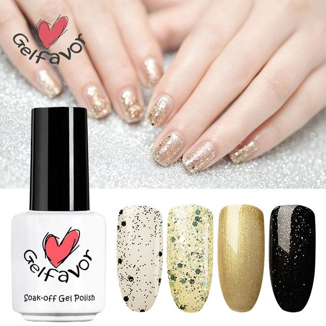 Gelfavor 7ml Pure Color Series No.1467-1864 Colori Soak Off Smalto UV Smalto UV LED Gel Vernice gel a lunga durata