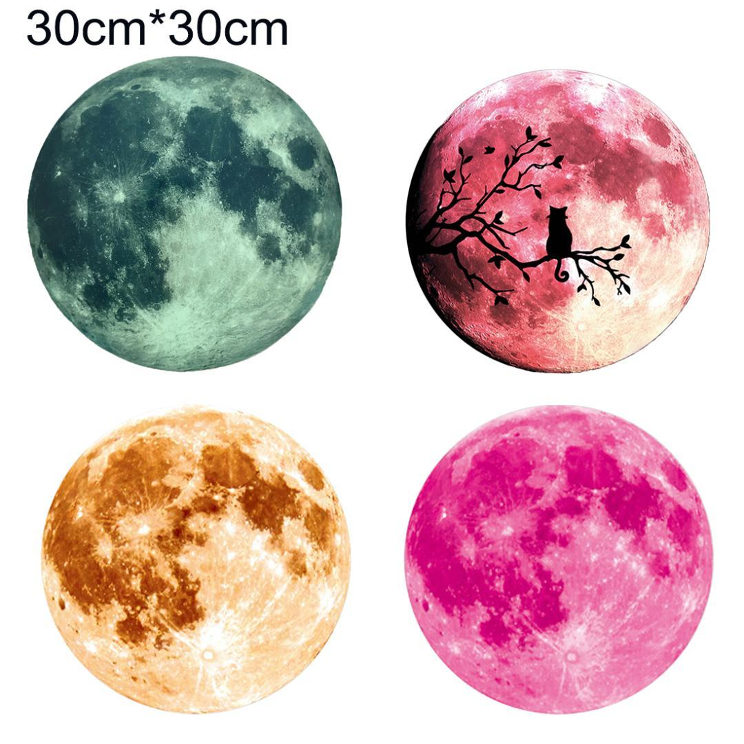 Luminous Stickers Moon Glow in the Dark Glow Star Moon Wall Stickers For Kid Room Decoration Pegatinas De Pared Mural Decals