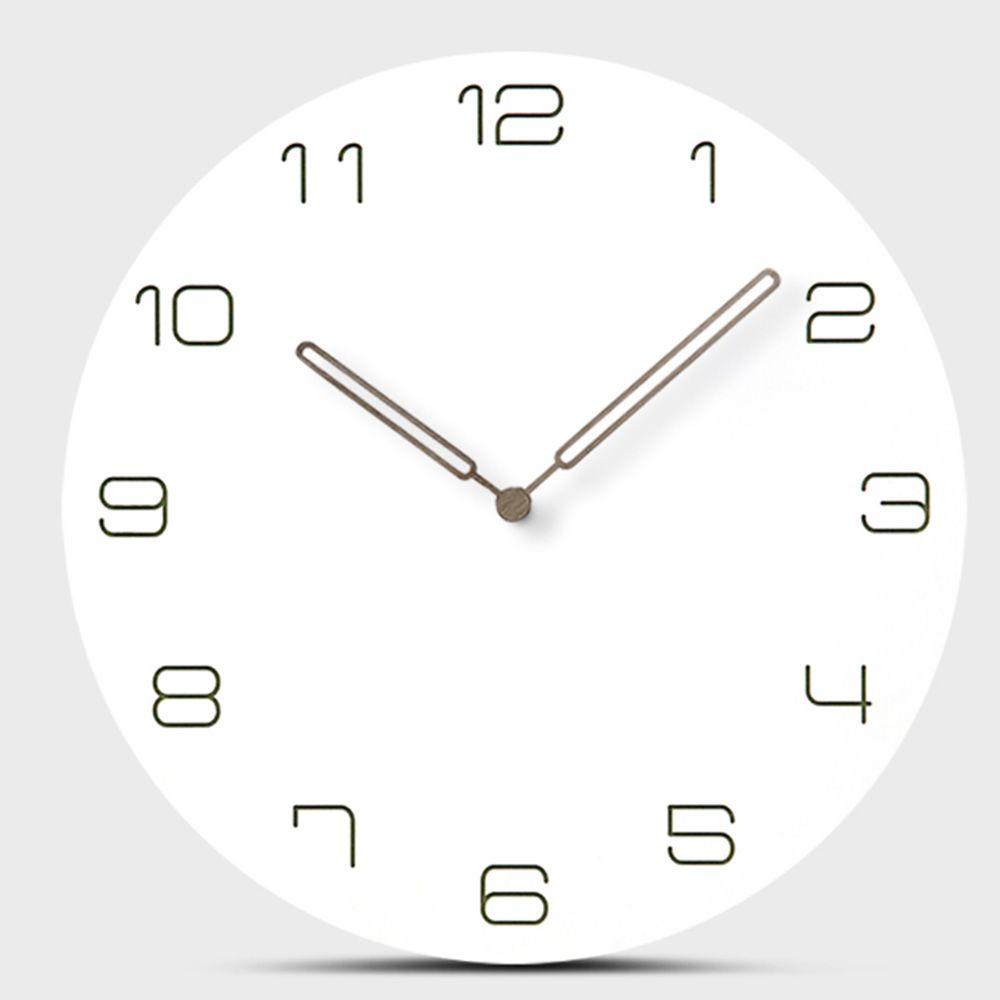 94cc3ba38ea4 Compre 12 Pulgadas Reloj De Pared Hogar Nórdico Mudo Dormitorio Sala De  Estar Minimalista Moderno Reloj De Pared Decorativo Relojes De Madera De  Cuarzo A ...