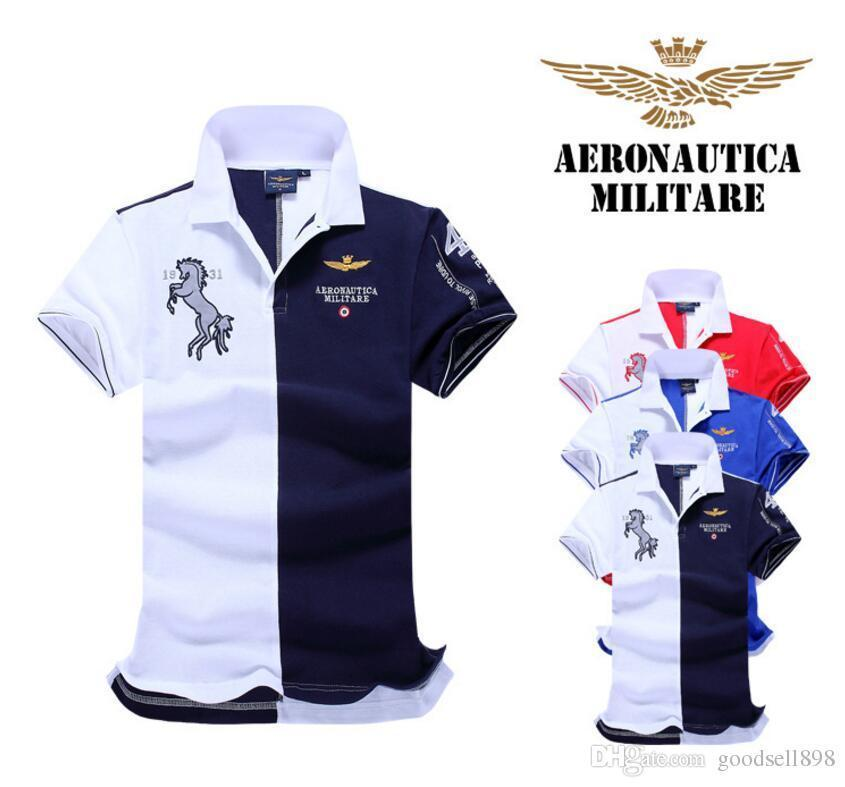 1ecc05ce9161 2019 2018 New Designer Polo Shirts Men Shorts Sleeve Polo Shirts 100%  Cotton Embroidery Mens Luxury Designer Patchwork Polo T Shirts From  Hanhan568