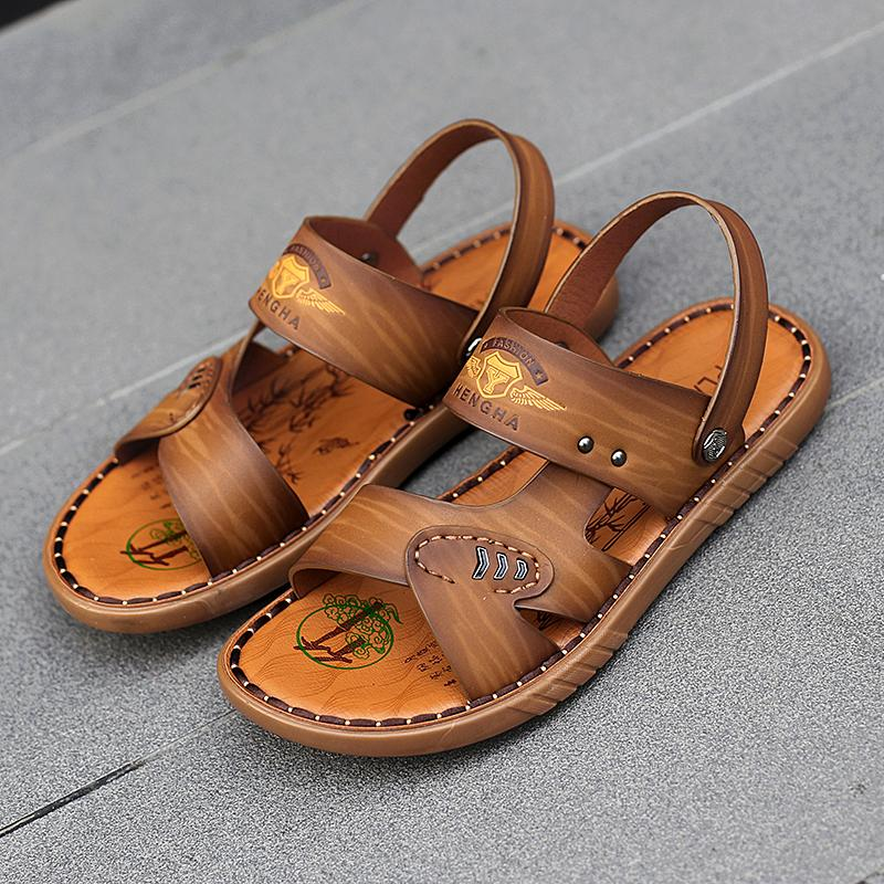 f5b726a12f0d3 Compre 2019 Marca Sandalias De Playa De Verano Suave Para Hombre Sandalias  Zapatos Para Hombres Playa Fresca Calidad Casual Caminando Sandalia Tamaño  38 44 ...