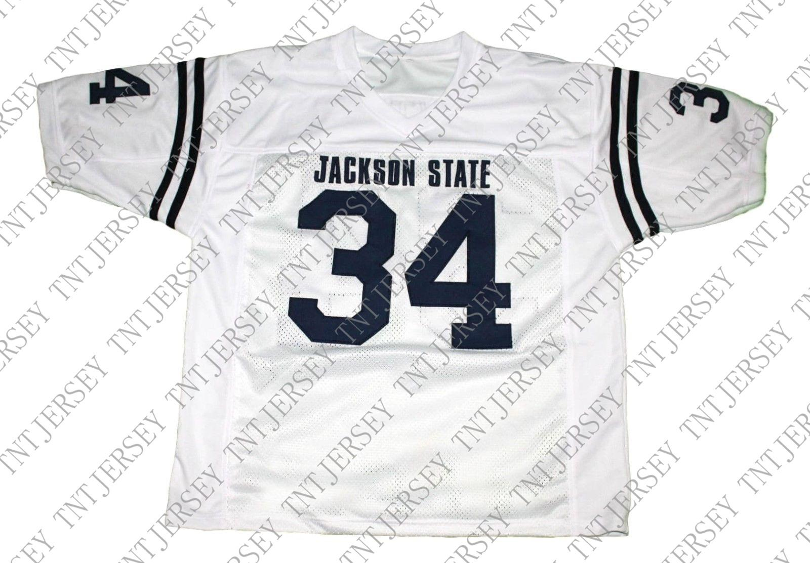 promo code 0446e 75c59 wholesale Walter Payton #34 Jackson State New Football Jersey White  Stitched Custom any number name MEN WOMEN YOUTH Football JERSEY