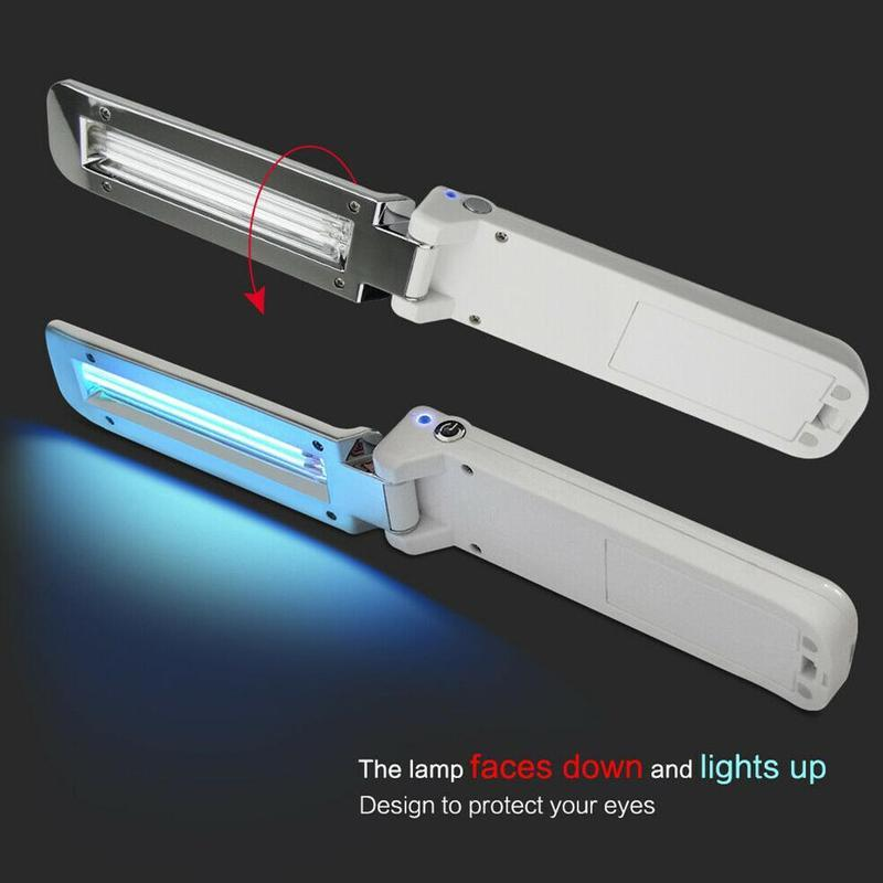 Handheld Ultraviolet Lamp Floding Portable UVC LED Sterilizer USB Battery Power Handheld Phone Toothbrush Sterilizer Germicidal Lamps