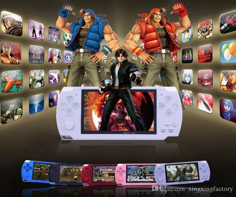 4.3 Inch PMP Handheld Game Player MP3 MP4 MP5 Player Video FM Camera Portable 8GB Game Console dhl Free