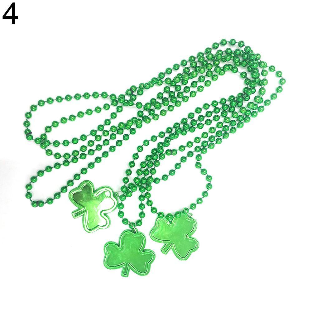 a1e78d671418 Compre Gargantilla De Plástico Verde Para Niños Collar Adulto Del Día De San  Patricio Irlandés A  34.12 Del Weiyi18