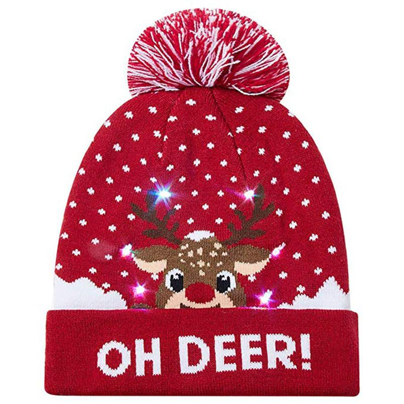 2019 2018 Women S Novelty LED Light Up Knitted Beanies Hat Boys Ugly  Sweater Holiday Xmas Christmas Hats For Men Girls Led Light Cap From  Kimgee 16f0ba57a23e