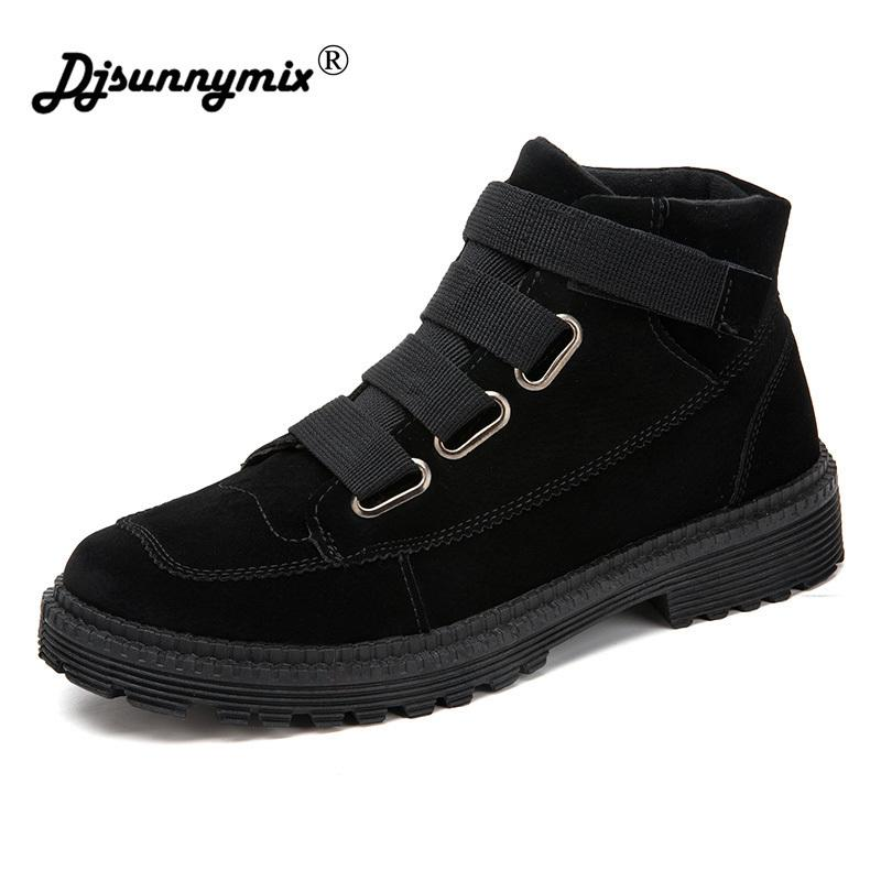 Acheter DJSUNNYMIX Hommes Bottes Mode Hommes Bottines Automne Hiver Hommes  Moto Bottes Homme Oxfords Chaussures En Cuir PU Casual Shoes De  29.07 Du  Ycqz4 ... 70e0378a1599