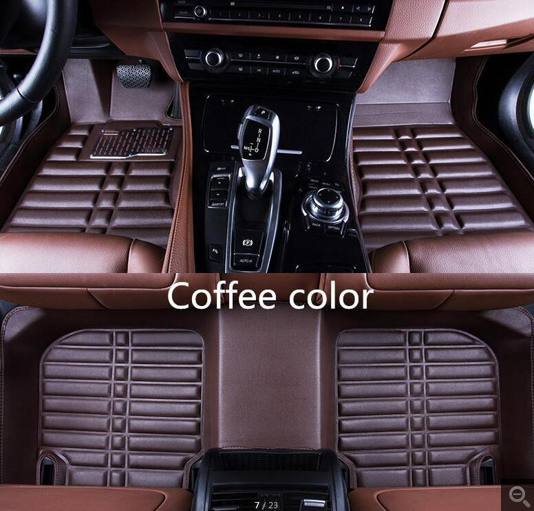 Floor Mats 3pcs Custom Car Floor Mats For Ford For Focus 2012-2017 Car-styling Leather Waterproof Floor Mats Protector