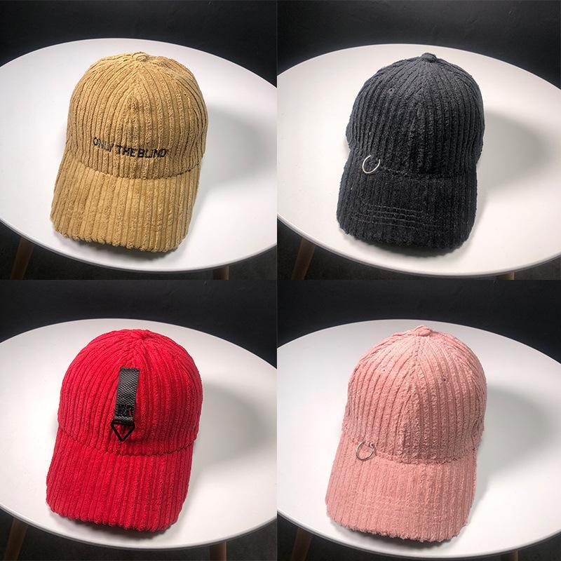 df27cd9facb12 New Autumn Winter Corduroy Stripe Brand Bones Caps Hip Hop Hat Long Tape  Baseball Cap Snapback Hats For Men Women Casquette Flat Brim Hats Baby Cap  From ...