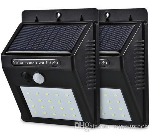 Free shipping LED Solar PIR Motion Sensor Wall Light 40pcs LED Outdoor  Waterproof Energy Saving Street Yard Path Home Garden Lamp