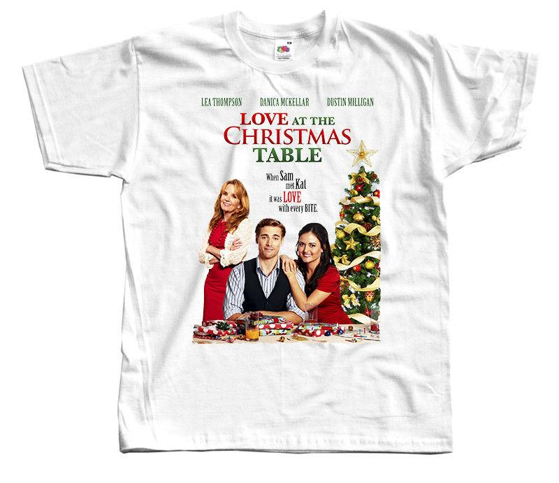 Love At The Christmas Table.Love At The Christmas Table Movie Poster Christmas T Shirt Dtg White S 5xl White Black Grey Red Trousers Tshirt Mens Pride Dark T Shirt