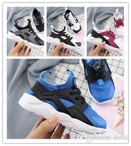 kids shoes Fashion Air Huarache 5 Ultra Running Shoes Huaraches Rainbow Ultra Breathe Shoes kids Hurache Multicolor Sneakers Size 28-35