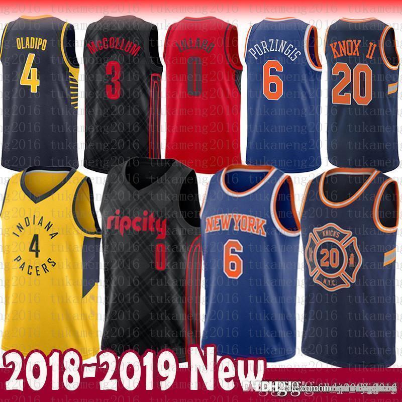 2019 Victor 4 Oladipo Indiana 6 Kristaps 6 Porzingis Pacers 20 Kevin   Knox  II New York Jersey Knicks 0 Damian   Lillard 3 CJ   McCollum From  Tukameng2016 d3f65bae1
